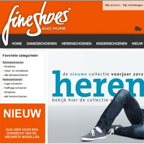 FineShoes.nl webshop & internetmarketing