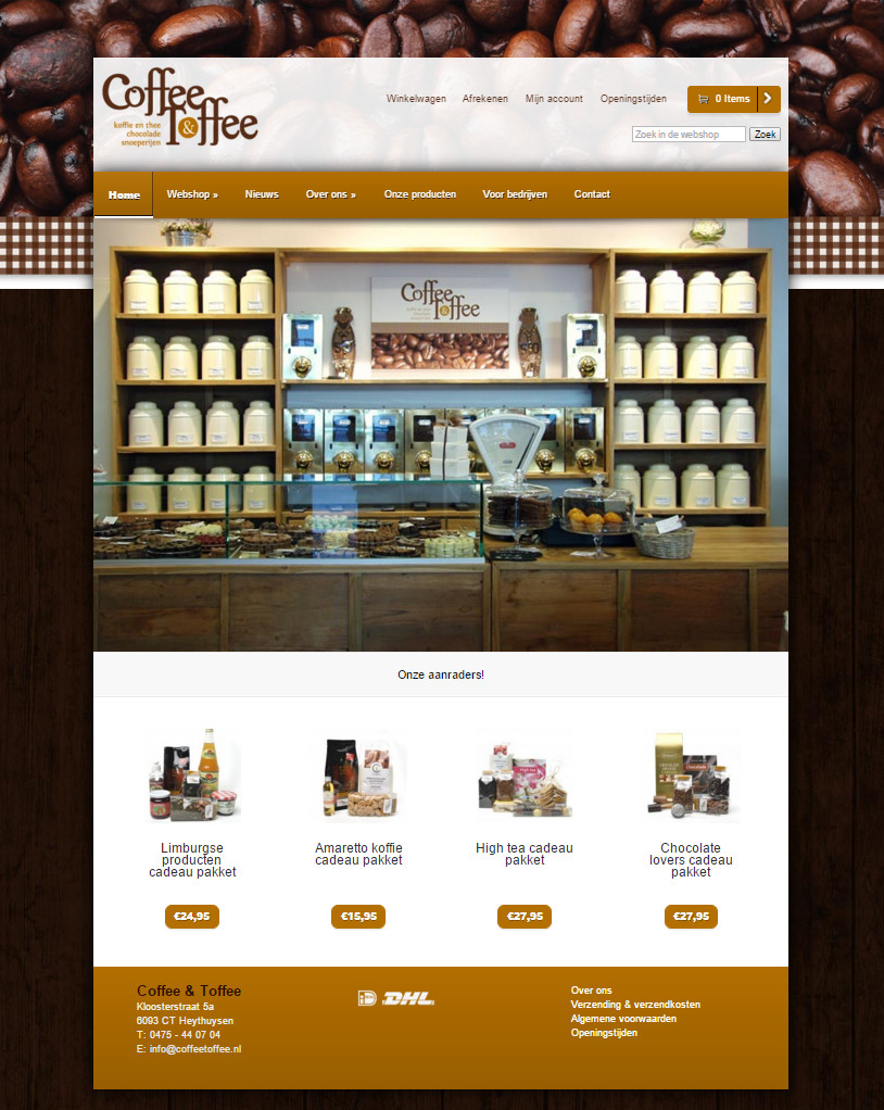 Webshop Coffee & Toffee